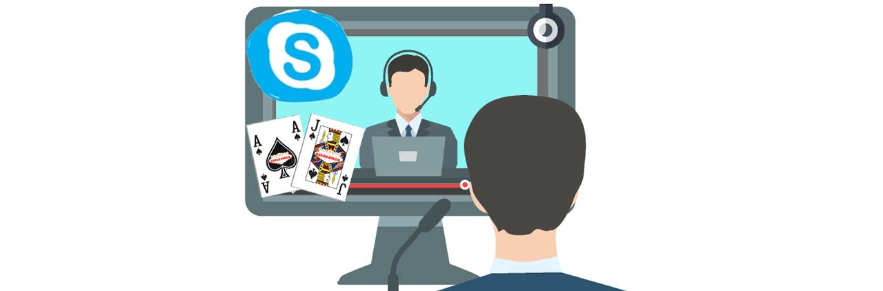 Blackjack Coaching im Online Casino über Skype