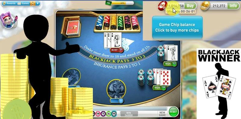 Mit Blackjack bei MyVegas auf Facebook Millionen gewinnen