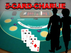 Kartenkombination 5-Card-Charlie beim Blackjack
