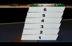Blackjack-Spiel mit 6 Kartendecks