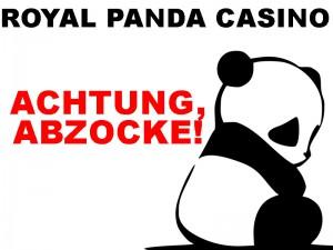 Royal Panda Casino Betrug Erfahrung