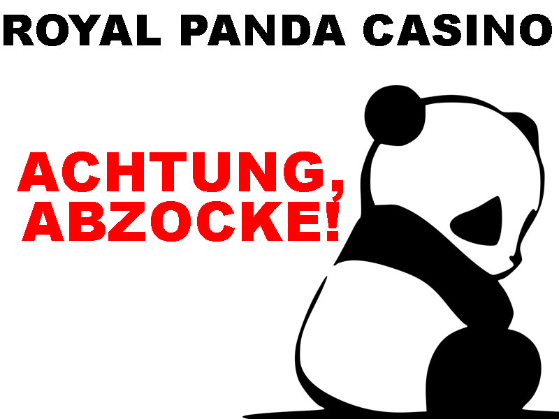 Online Casino Test – Betrug im Royal Panda Casino