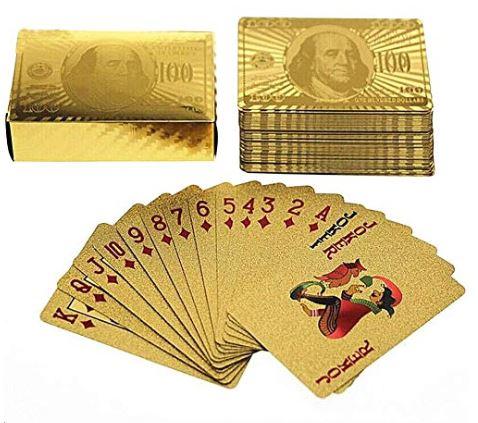 Blackjack Karten in gold