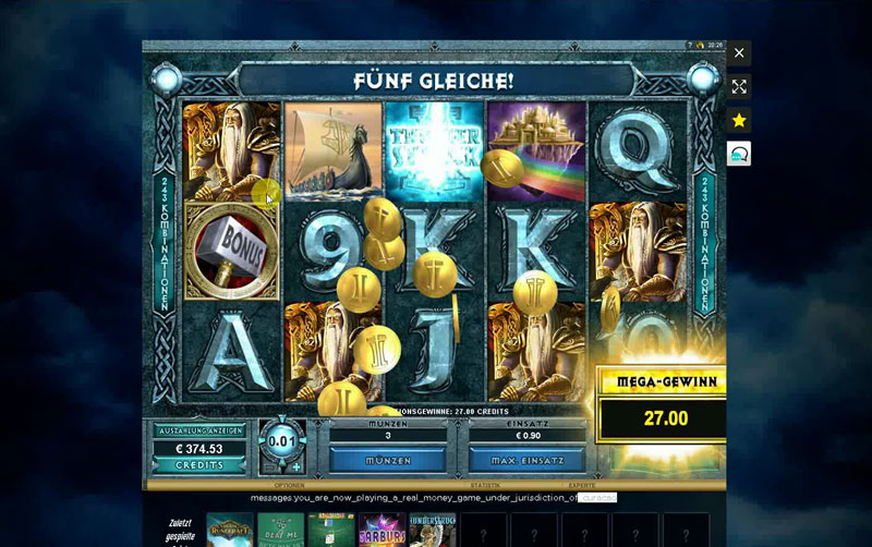 Thunderstruck 2 Slot im Online Casino Test