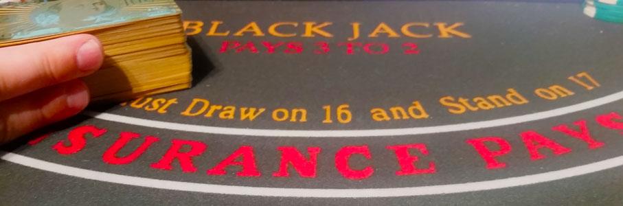 Anzahl der Kartendecks beim Blackjack