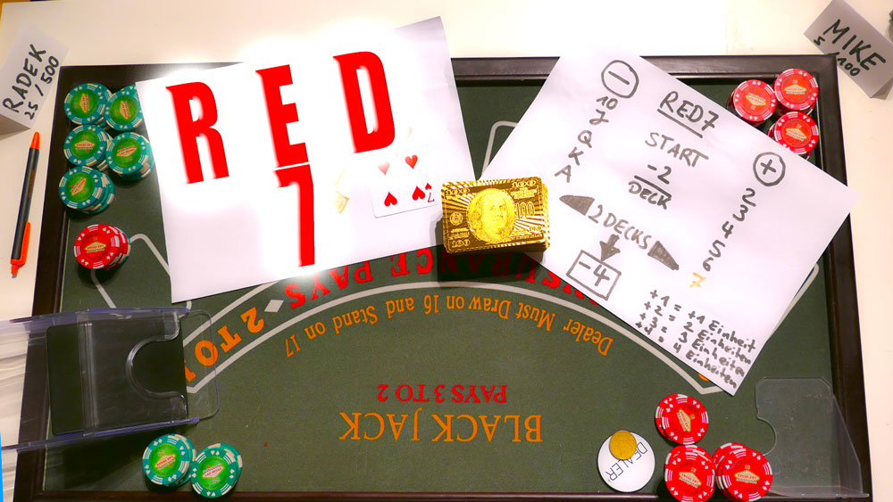 Kartenzählen beim Blackjack mit dem Red 7 Count