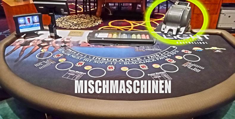 Mischmaschinen beim Blackjack