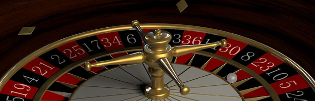 Roulette Spielfeld und Kessel