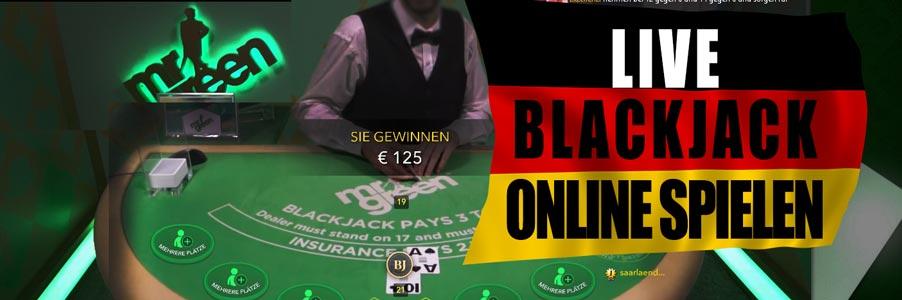 Live Blackjack online spielen im Mr Green Casino