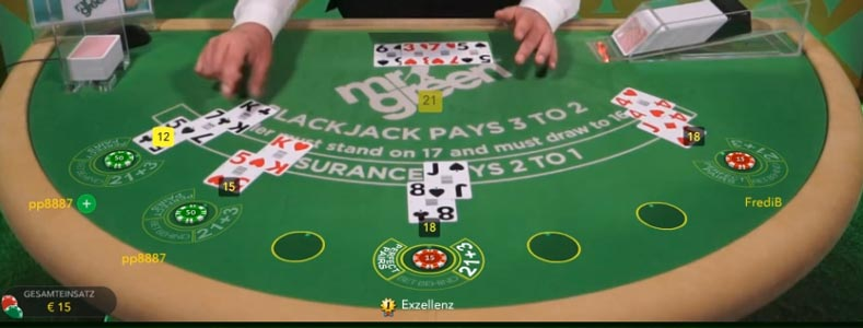 Live Blackjack online spielen im Mr Green Online Casino