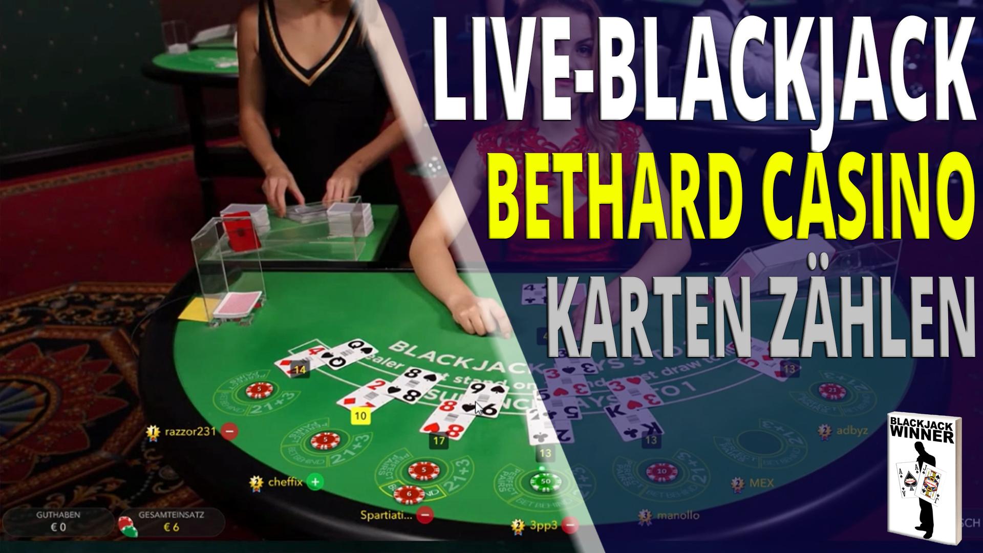 Live Blackjack im Bethard Online Casino