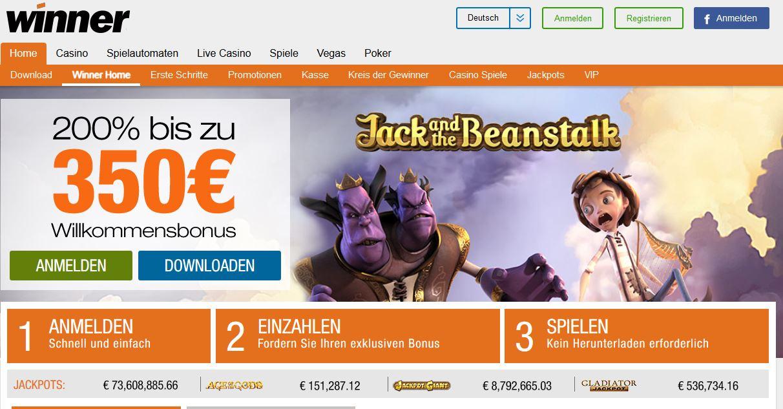 Aktuelle Aktionen im Winner Casino mit 30 Euro Gratis Bonus