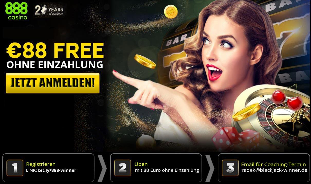 88 Euro Gratis-Bonus im 888 Online Casino