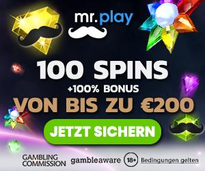 Online Casino MrPlay 100 Spins Bonus