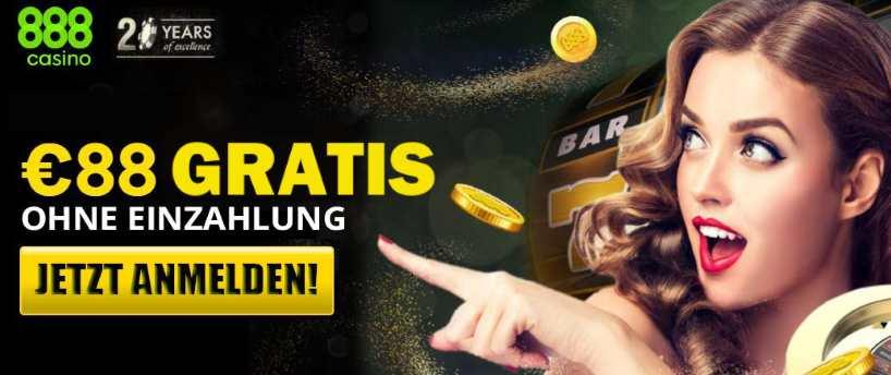 Blackjack spielen gratis mit 88 Euro im 888 Online Casino