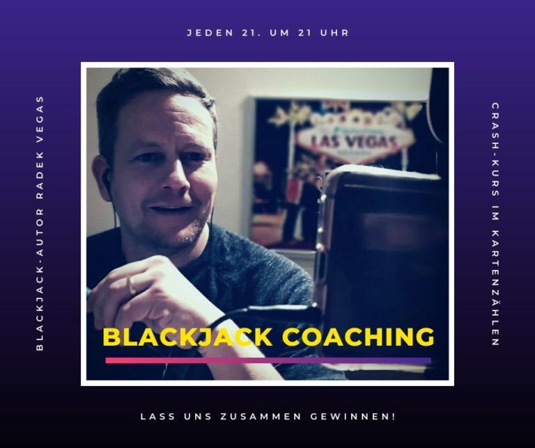 Blackjack-Coaching mit Tipps von Radek Vegas
