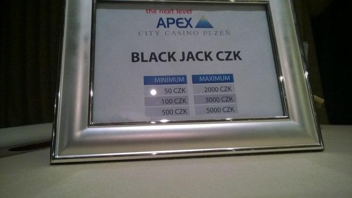 Apex Casino Pilsen / Tschechien - Blackjack Regeln