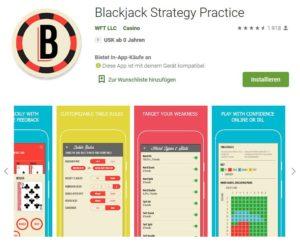 Blackjack spielen üben mit der App