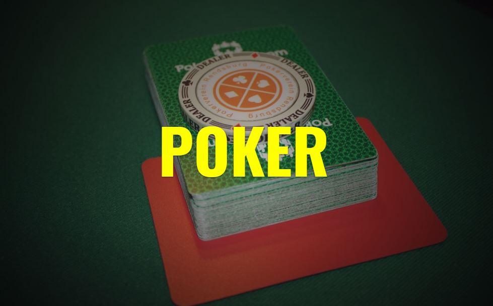 Poker Kartenspiel im Casino