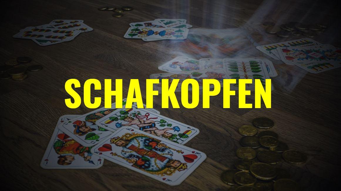 Schafkopfen ist ein deutsches Kartenspiel